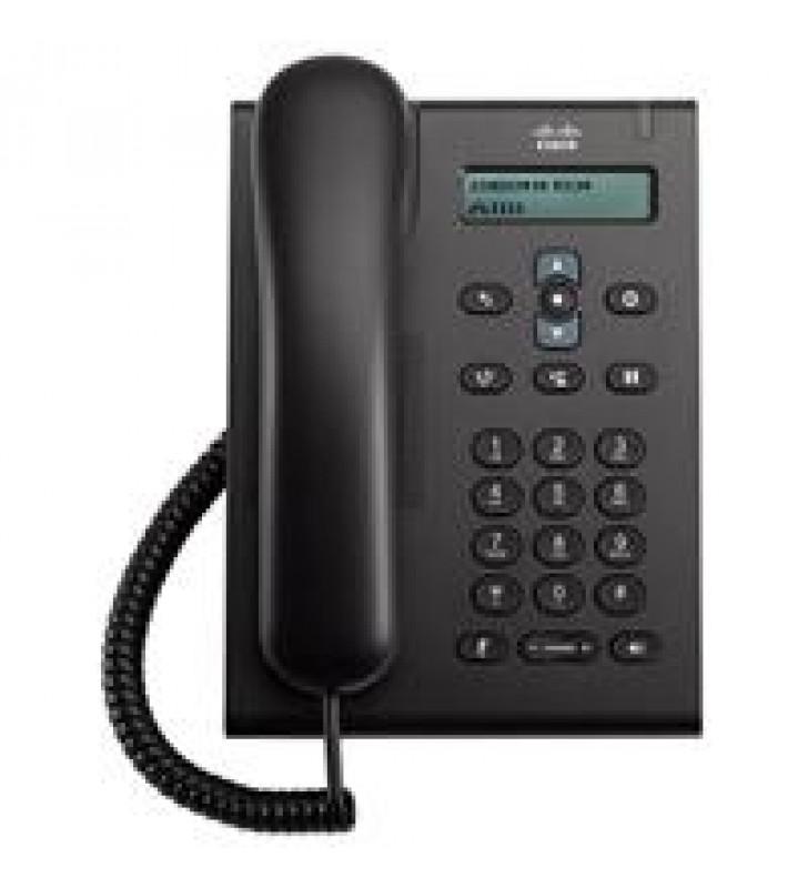 TELEFONO CISCO 3905 PROTOCOLO SIP DISPLAY COLOR NEGRO 2 PTOS 10/100