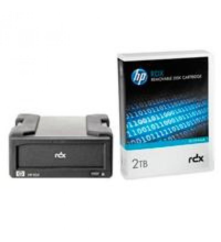 UNIDAD DE RESPALDO HPE RDX EXTERNA USB 3.0 + CARTUCHO DE DISCO 2TB