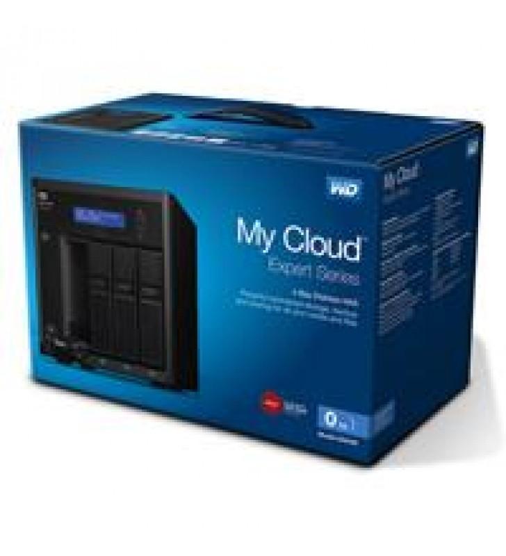 NAS WD MY CLOUD EX4100 0TB/SIN DISCOS/4BAHIAS HOTSWAP/1.6GHZ/2GB/2ETHERNET/3USB3.0/RAID 0-1-5-10