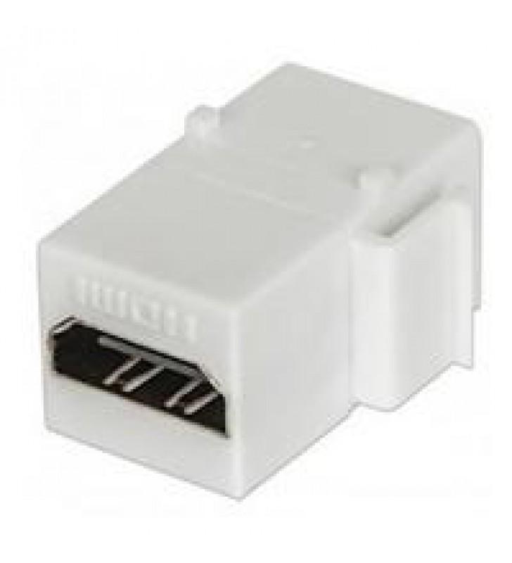 JACK COPLE HDMI TIPO KEYSTONE INTELLINET HEMBRA A HEMBRA BLANCO