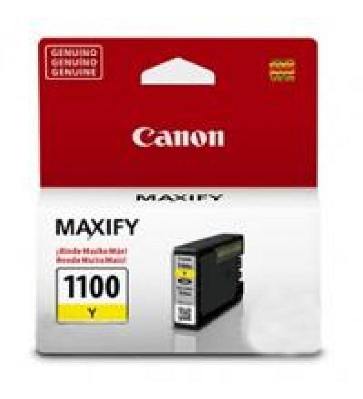 CARTUCHO DE TINTA CANON PGI-1100Y AMARILLO P/MAXIFY MB2010 RENDIMIENTO 312PAGINAS