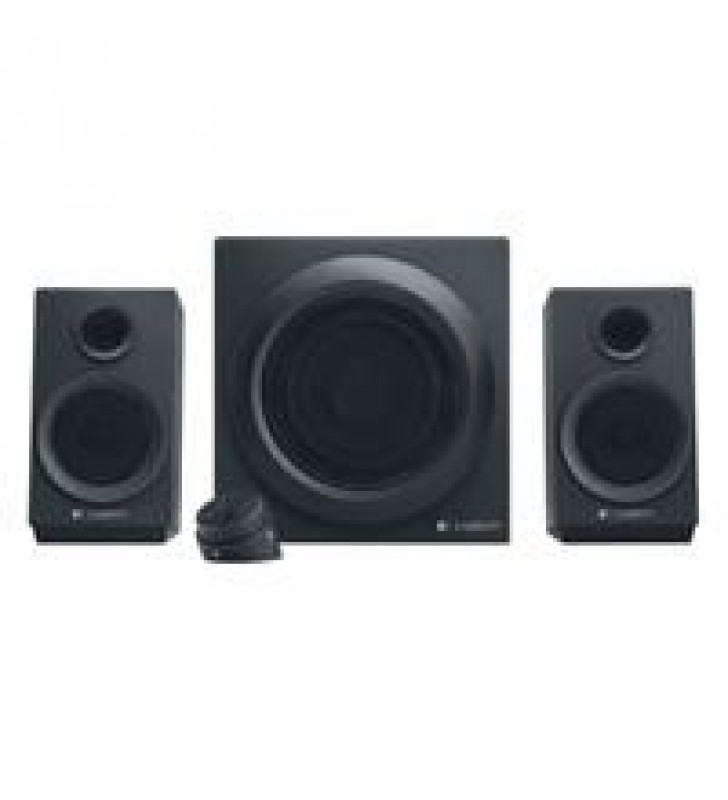 BOCINAS LOGITECH Z333 NEGRAS 2.1 40 WATTS RMS PC/MAC/MP3/IPOD/DVD