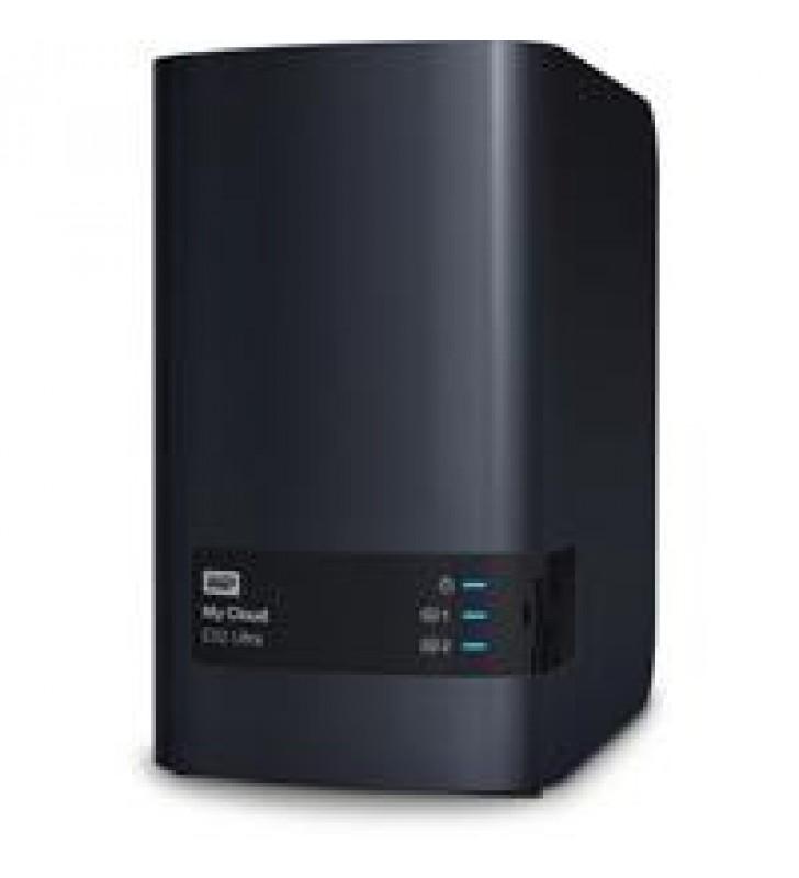 NAS WD MY CLOUD EX2 ULTRA 0TB/SIN DISCOS/2BAHIAS/1.3GHZ/1GB/1ETHERNET/2USB3.0/RAID 0-1