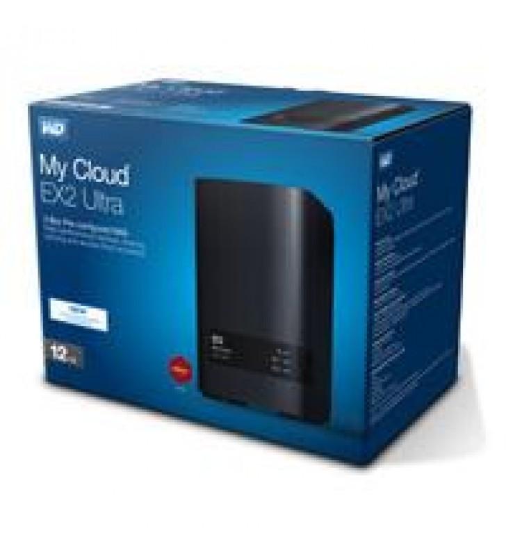 NAS WD MY CLOUD EX2 ULTRA 12TB/CON 2 DISCOS DE 6TB/2BAHIAS/1.3GHZ/1GB/1ETHERNET/2USB3.0/RAID 0-1