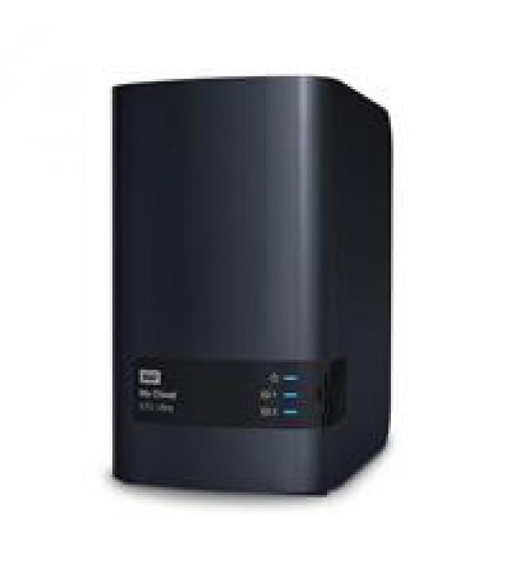 NAS WD MY CLOUD EX2 ULTRA 16TB/CON 2 DISCOS DE 8TB/2BAHIAS/1.3GHZ/1GB/1ETHERNET/2USB3.0/RAID 0-1