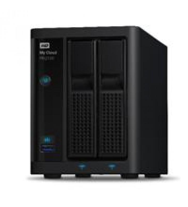 NAS WD MY CLOUD PR2100 0TB/SIN DISCOS/2BAHIAS/INTEL PENTIUM N3710 1.6GHZ/4GB/2ETHERNET/2USB3.0/RAID