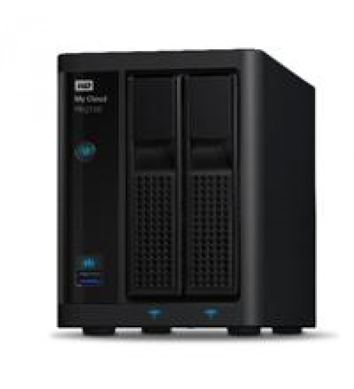 NAS WD MY CLOUD PR2100 4TB/CON 2 DISCOS DE 2TB/2BAHIAS/INTEL PENTIUM N3710 1.6GHZ/4GB/2ETHERNET/2USB