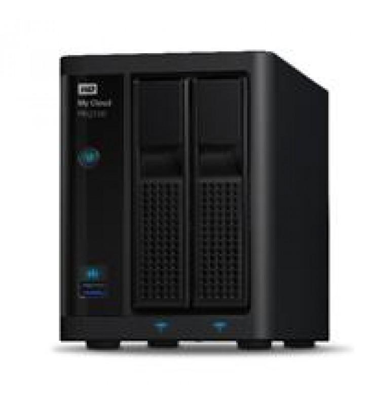 NAS WD MY CLOUD PR2100 8TB/CON 2 DISCOS DE 4TB/2BAHIAS/INTEL PENTIUM N3710 1.6GHZ/4GB/2ETHERNET/2USB