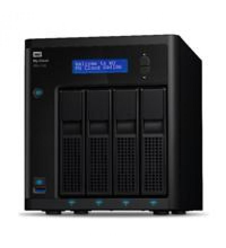 NAS WD MY CLOUD PR4100 24TB/CON 4 DISCOS DE 6TB/4BAHIAS/INTEL PENTIUM N3710 1.6GHZ/4GB/2ETHERNET/3US