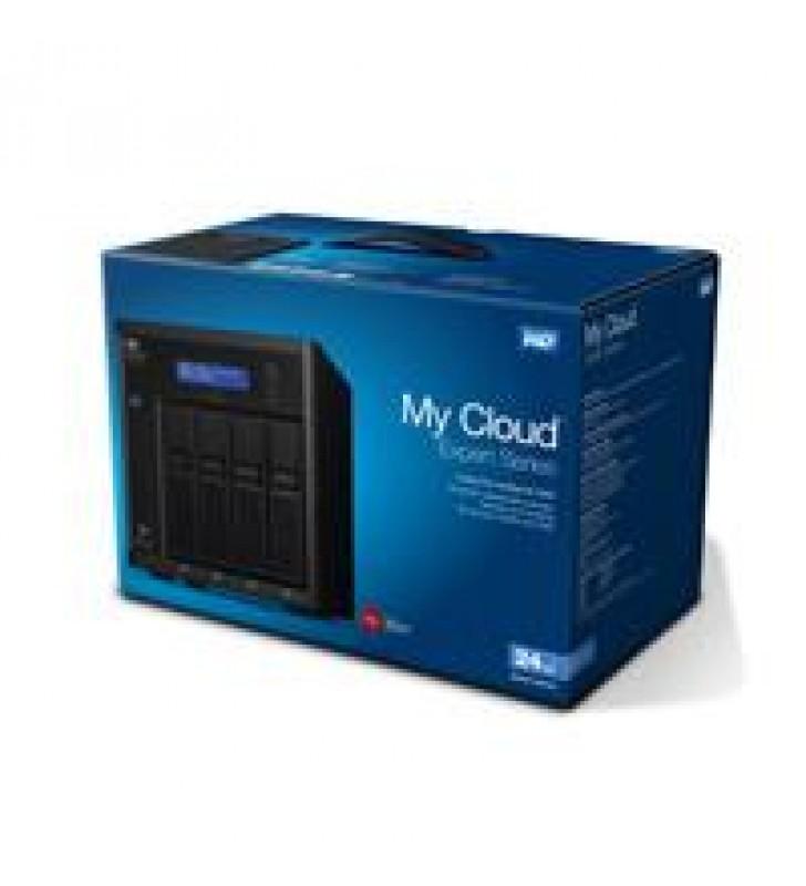 NAS WD MY CLOUD EX4100 24TB/CON 4 DISCOS DE 6TB/4BAHIAS HOTSWAP/1.6GHZ/2GB/2ETHERNET/3USB3.0/RAID 0-