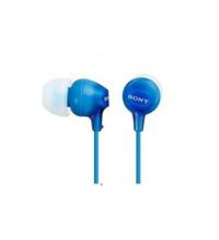 AUDIFONO INTERNO IN-EAR SONY EX15-LP COLOR AZUL. CONECTOR 3.5 MM