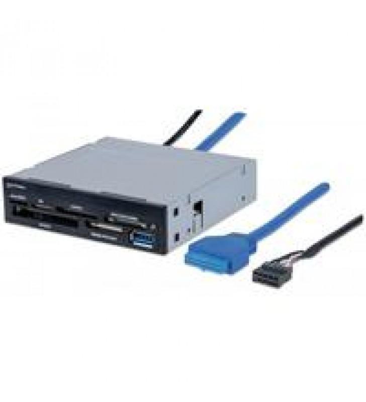 LECTOR Y GRABADOR MANHATTAN DE MULTI-TARJETAS USB 3.0 SUPER SPEED PARA BAHIA DE MONTAJE DE 3.5. 48 E