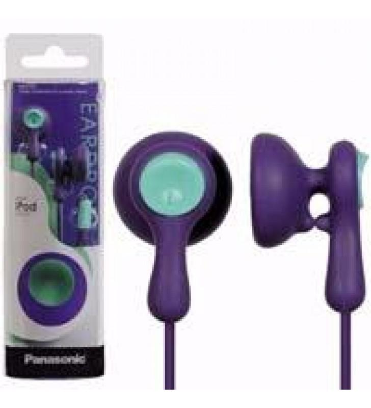 AUDIFONOS TIPO INSERCION (IN-EAR)  PANASONIC RP-HV41PP COLOR VIOLETA CONECTOR 3.5MM
