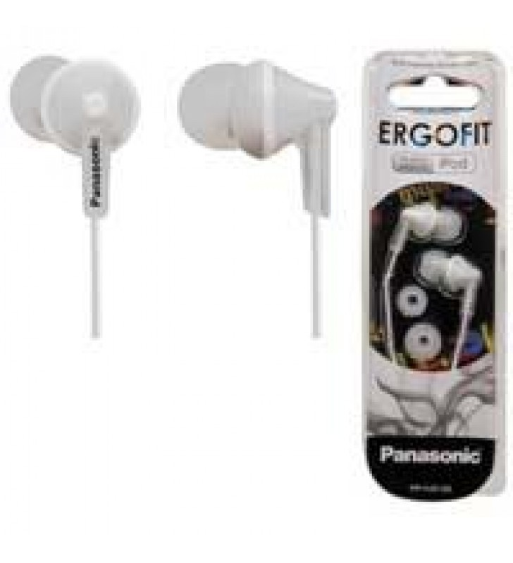 AUDIFONOS TIPO INSERCION (IN-EAR)  PANASONIC RP-HJE125PP COLOR BLANCO CONECTOR 3.5MM