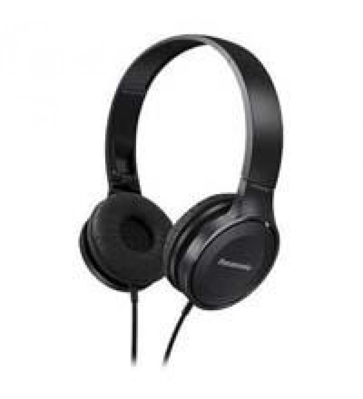 AUDIFONOS TIPO DIADEMA (ON-EAR PANASONIC RP-HF100E COLOR NEGRO DISENO JUVENIL Y SOFISTICADO PLEGABLE