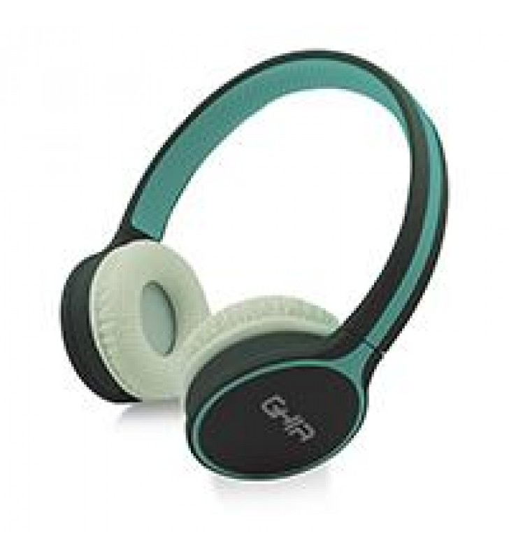 AUDIFONOS DIADEMA BLUETOOTH GHIA N1 HIFI SOUND AZUL/GRIS 10M ALCANCE BT 4.2 BATERIA 300MAH