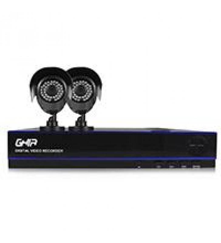 KIT GHIA DVR 4 CH PENTAHIBRIDO 1080P LITE/ HDMI/ VGA 2 CAMARAS BALA METALICAS 720P / CONECTIVIDAD P2