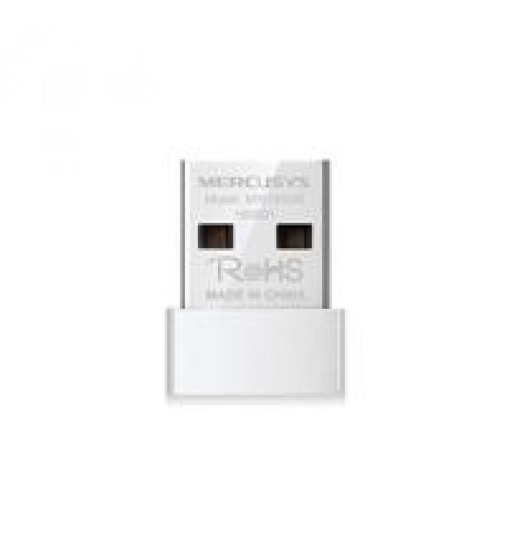 TARJETA DE RED USB MERCUSYS MW150US INALAMBRICA 150 MBPS 802.11N/G/B TAMANO NANO