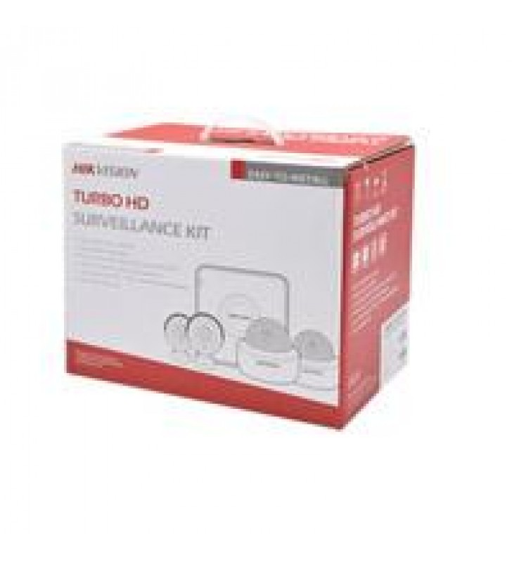 KIT DE CCTV HIK VISION / DVR 4CH / 4 CAMARAS TIPO BALA 1080P / 4 JUEGOS DE CABLE / FUENTE / NO INCLU