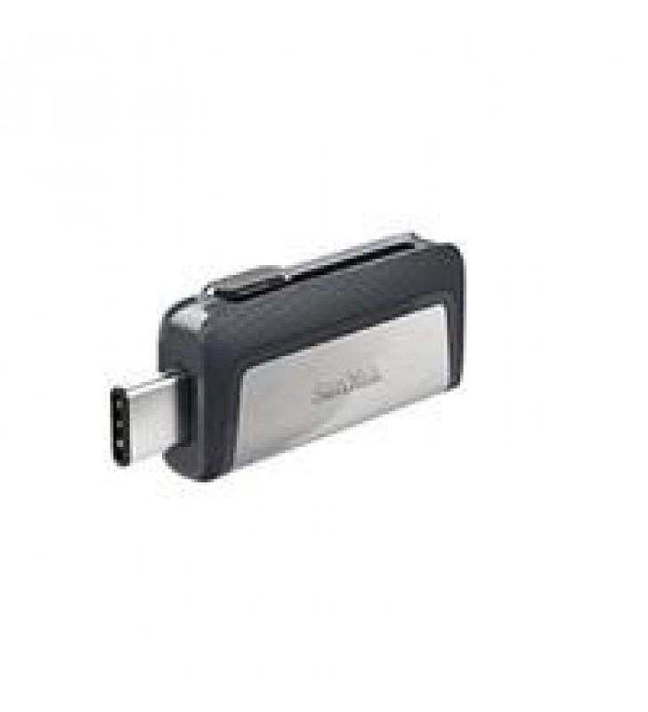 MEMORIA SANDISK 64GB DUAL ULTRA USB TIPO-C / USB 3.1 NEGRO /PLATA 150MB/S