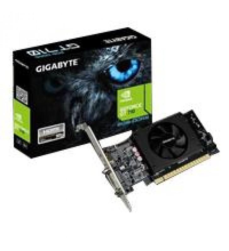 TARJETA DE VIDEO GIGABYTE NVIDIA GT710/ PCIE X8 2.0/2GB/DDR5/64BIT/DVI/HDMI/BAJO PERFIL/GAMA BASICA