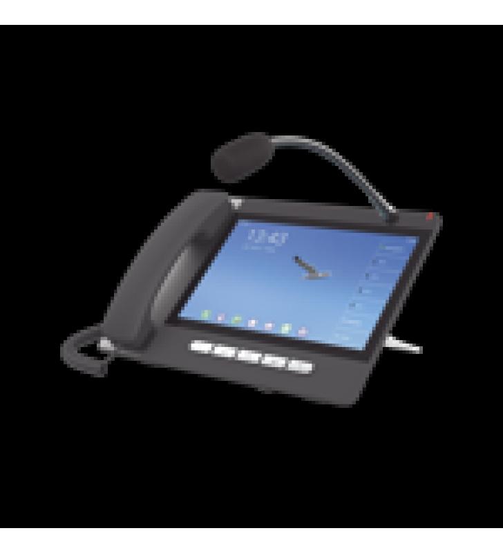 TELEFONO IP  ANDROID 9.0 EMPRESARIAL PARA 20 LINEAS SIP, PANTALLA TACTIL, WI-FI Y BLUETOOTH, POE, HASTA 112 BOTONES DSS, PUERTOS GIGABIT, SOPORTA RECEPCION DE VIDEO.