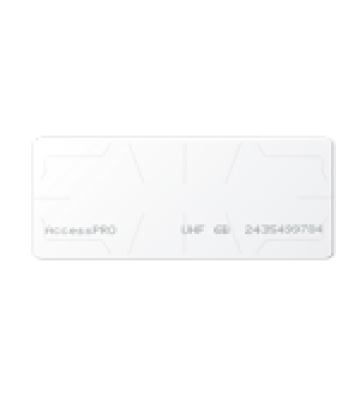 UHF TAG ADHERIBLE TIPO ETIQUETA / ISO 18000 6B / SE ADHIERE AL CRISTAL DEL VEHICULO / COMPATIBLE CON LECTORAS DE LARGO ALCANCE PRO12RF Y PRO6RF