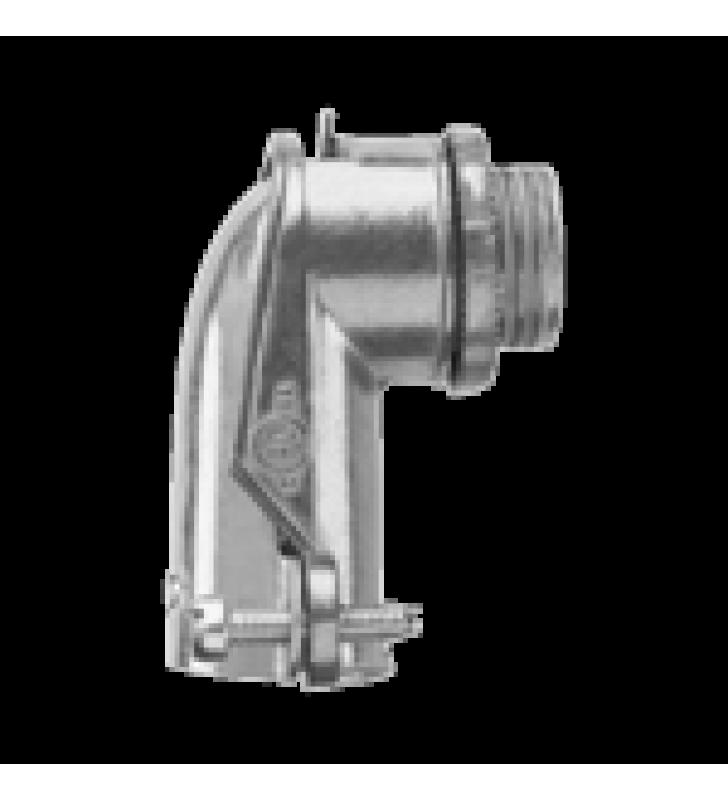 CONECTOR CURVO PARA TUBO FLEXIBLE 3/4  (19 MM)