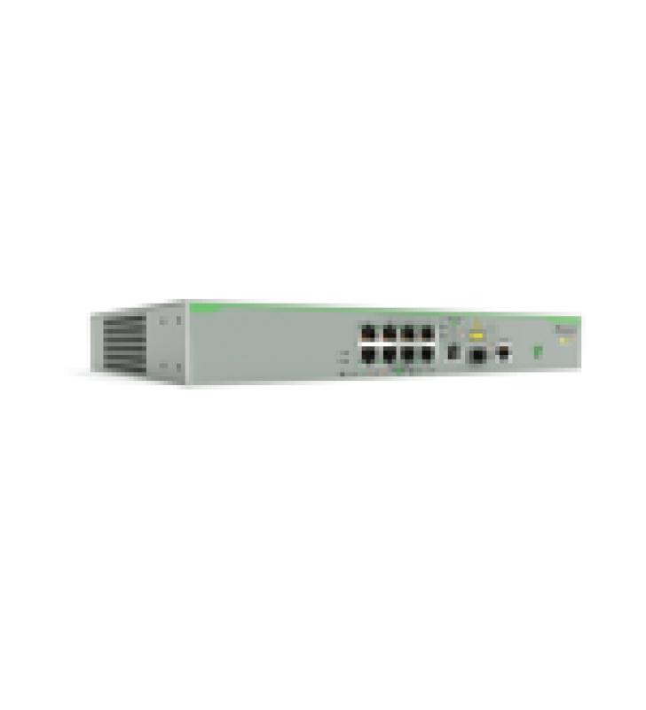 SWITCH POE+ ADMINISTRABLE CENTRECOM FS980M, CAPA 3 DE 8 PUERTOS 10/100 MBPS + 1 PUERTO RJ45 GIGABIT/SFP COMBO, 150 W