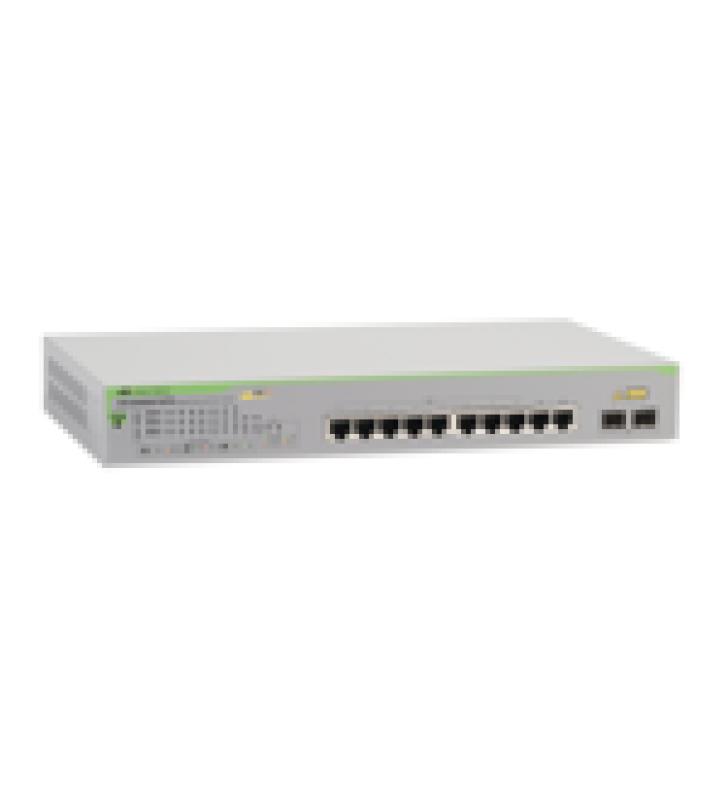 SWITCH POE+ GIGABIT WEBSMART DE 10 PUERTOS 10/100/1000 MBPS (2 X COMBO) + 2 PUERTOS GIGABIT SFP (COMBO), 75 W