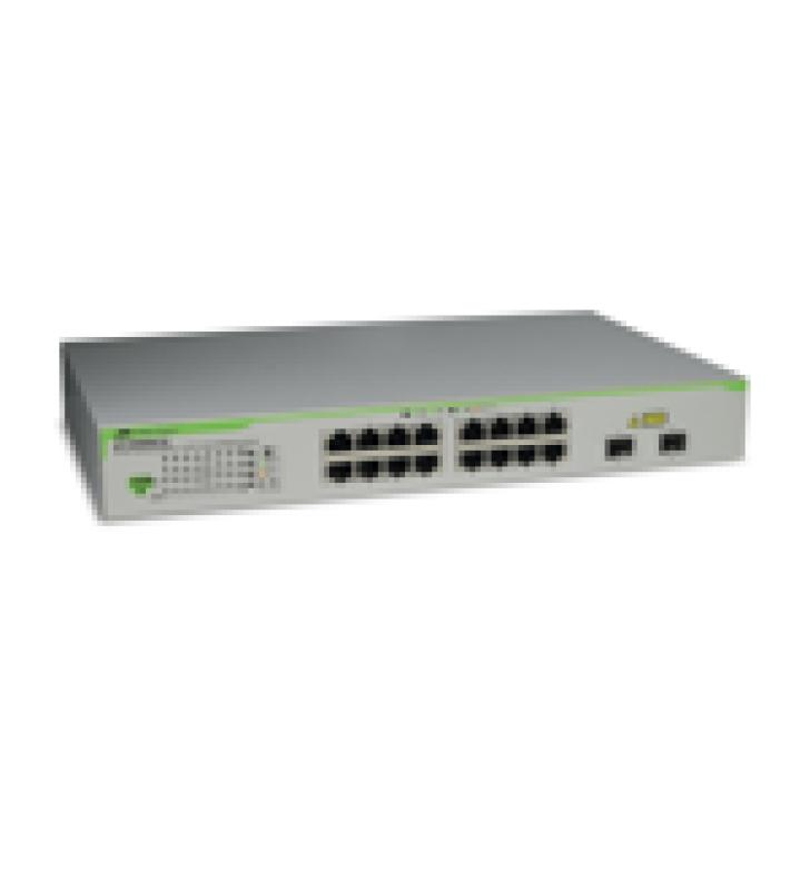 SWITCH GIGABIT WEBSMART DE 16 PUERTOS 10/100/1000 MBPS (2 X COMBO) + 2 PUERTOS GIGABIT SFP (COMBO)