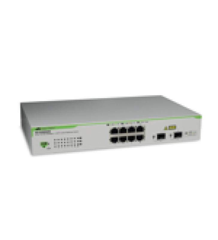 SWITCH GIGABIT WEBSMART DE 8 PUERTOS 10/100/1000 MBPS (2 X COMBO) + 2 PUERTOS GIGABIT SFP (COMBO)