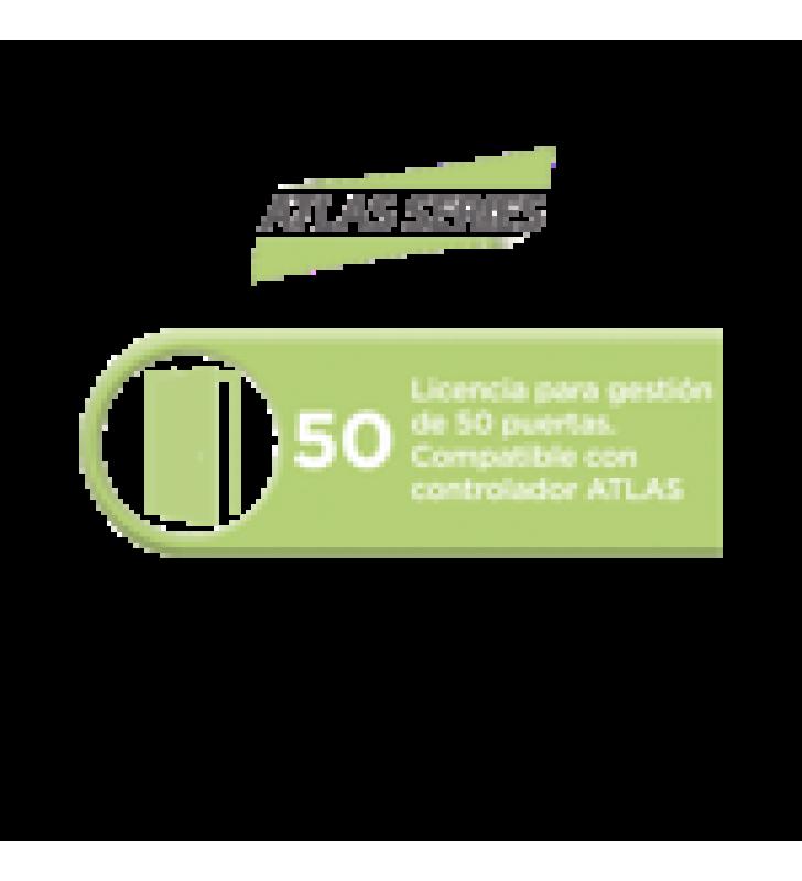 LICENCIA PARA 50 PUERTAS COMPATIBLE CON CONTROLADOR ATLAS