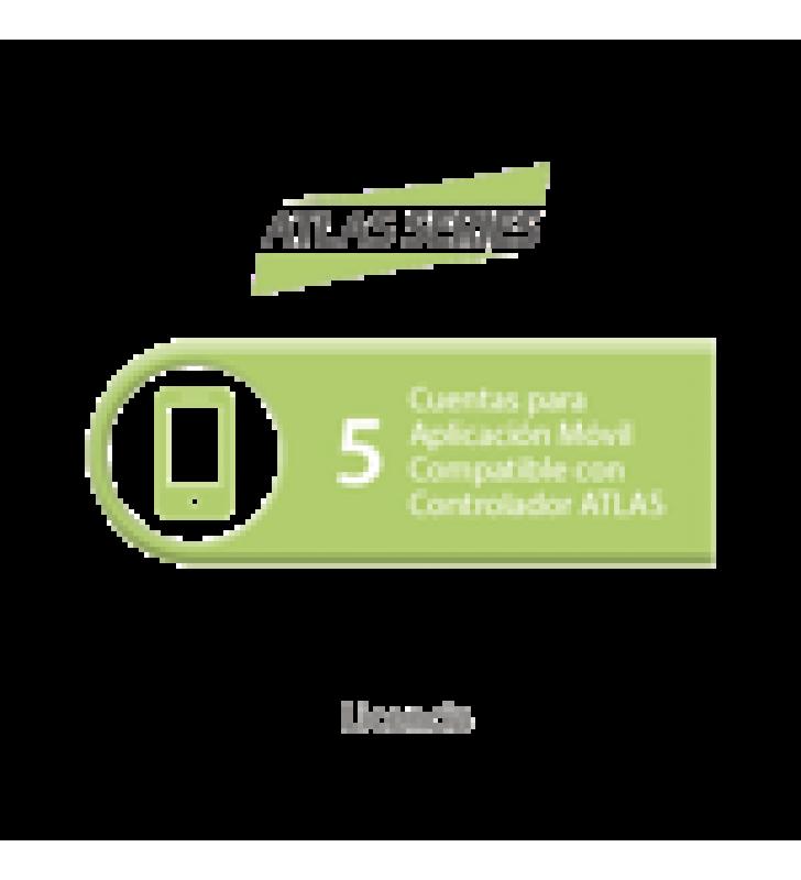 LICENCIA DE 5 CUENTAS PARA APLICACION MOVIL COMPATIBLE CON CONTROLADOR ATLAS