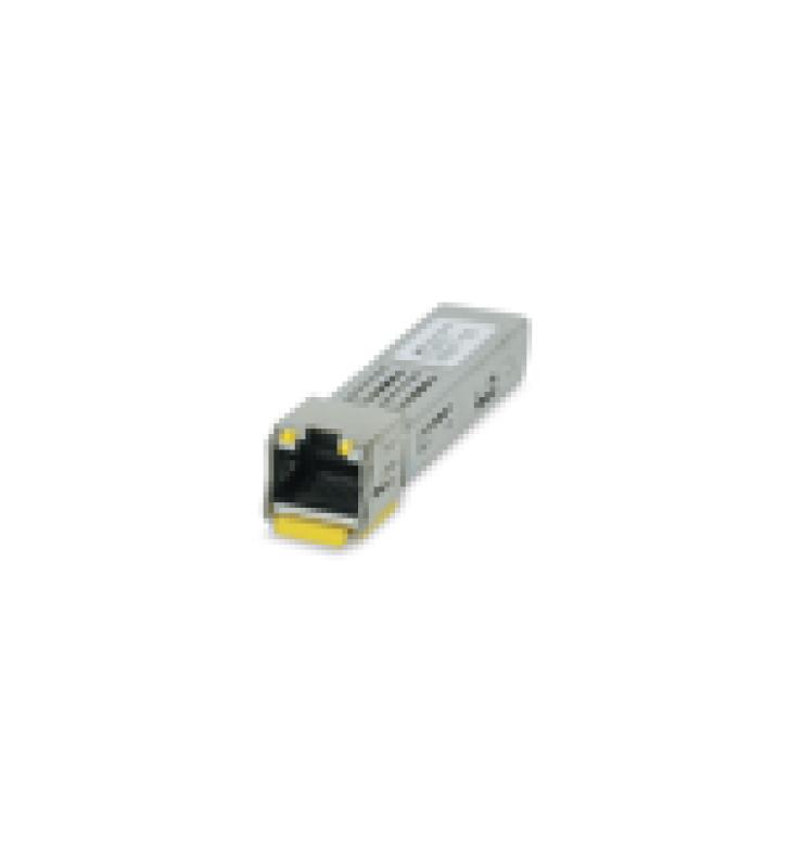 TRANSCEPTOR MINIGBIC SFP 10/100/1000 MBPS, DISTANCIA 100 M CONECTOR RJ-45