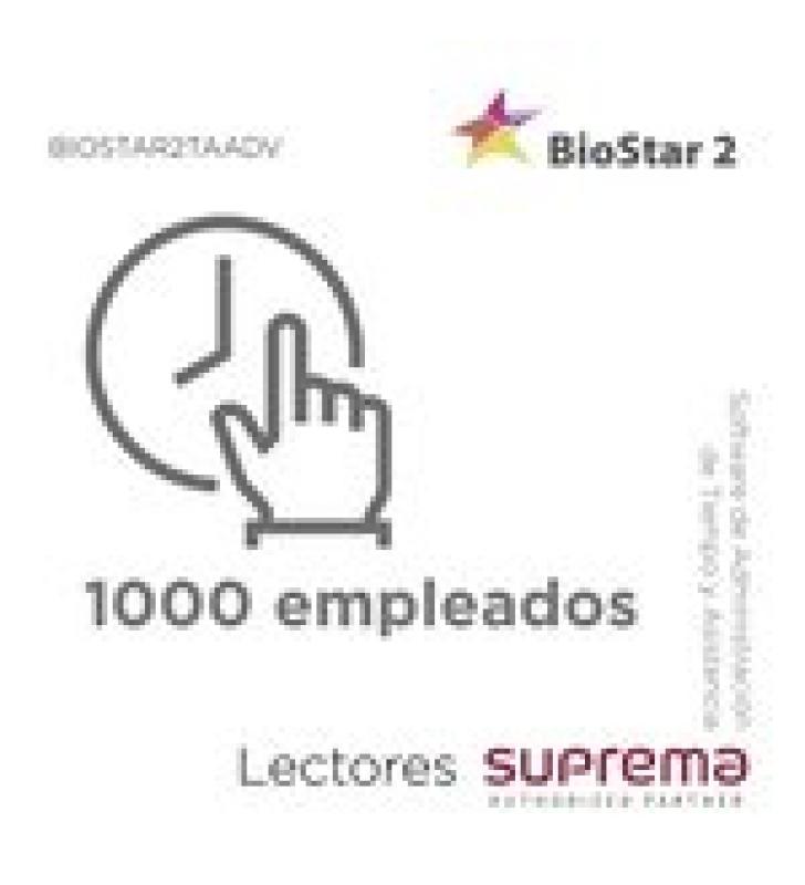 SOFTWARE DE ADMINISTRACION DE TIEMPO Y ASISTENCIA HASTA 1000 EMPLEADOS, PARA LECTORES SUPREMA