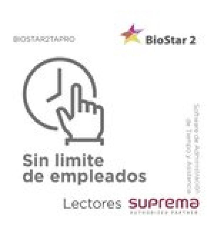 SOFTWARE DE ADMINISTRACION DE TIEMPO Y ASISTENCIA SIN LIMITE DE EMPLEADOS, PARA LECTORES SUPREMA