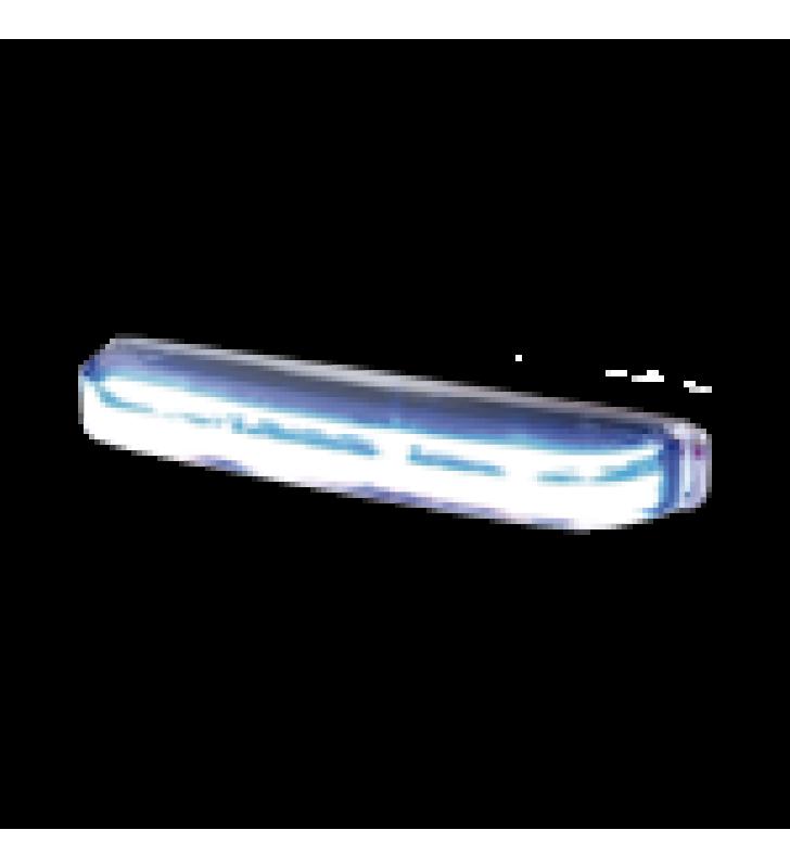 LUZ DIRECCIONAL LED CON MONTAJE: COLOR- DUAL , ESTRECHO, SUPERFICIE Y REJILLA, 69 PATRONES DE FLASH, 12-24VDC, ROJO / AZUL