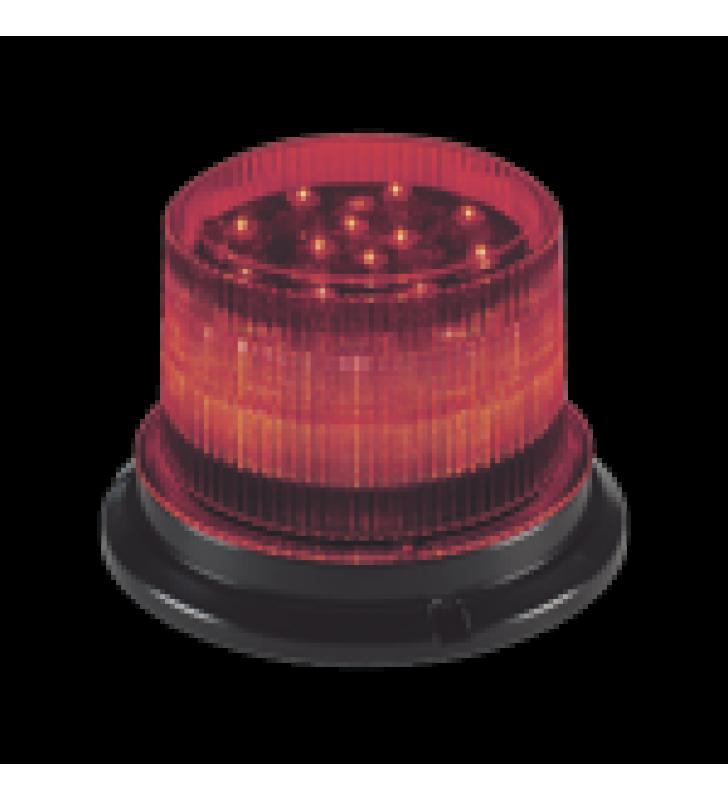 BALIZA LED, 12 / 24VDC, LENTE TRANSPARENTE, MONTAJE PERMANENTE (LED AMBAR, AZUL O ROJO)