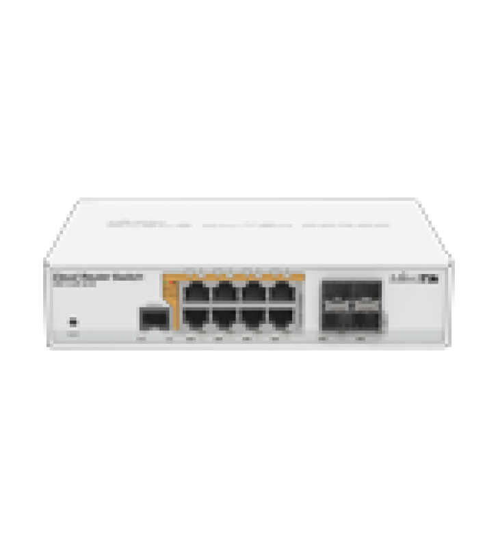 CLOUD ROUTER SWITCH ADMINISTRABLE L3, 8 PUERTOS 10/100/1000 MBPS C/POE PASIVO O 802.3AF/AT, 4 PUERTOS SFP