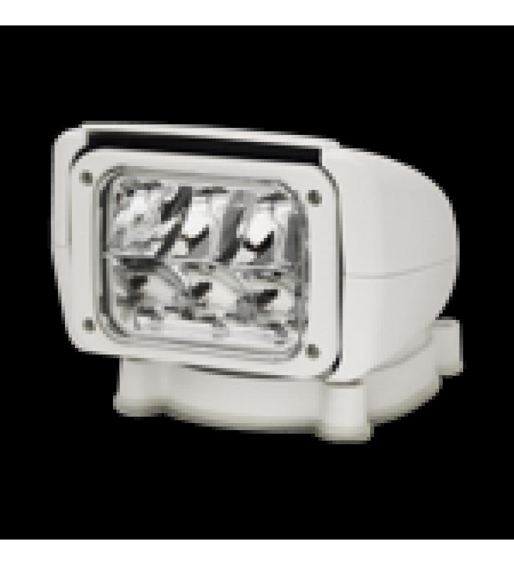 FARO REFLECTOR BUSCADOR LED, CON CONTROL REMOTO INALAMBRICO, COLOR BLANCO, GIRA EN HORIZONTAL 350 GRADOS  E INCLINACION VERTICAL DE 90 GRADOS 12-24 VCD