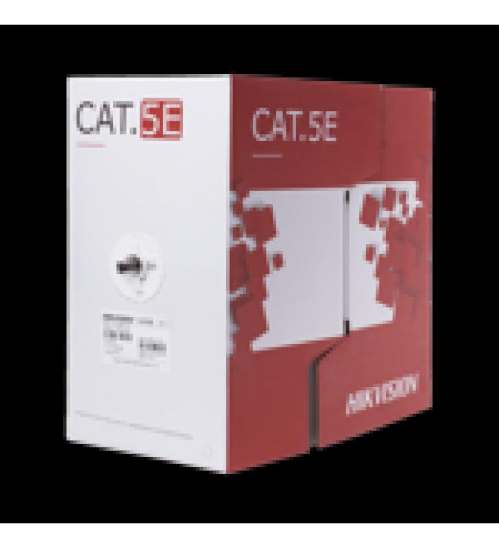 BOBINA DE CABLE UTP /  CAT 5E / 24 AWG / 305 MTS / USO EXTERIOR / 100% COBRE / COLOR NEGRO