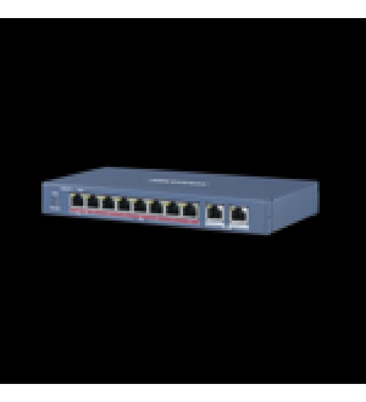 SWITCH POE+ / 7 PUERTOS 10/100 MBPS 802.3 AF/AT (30 W) + 1 PUERTO 100 MBPS POE++ /BT (60 W) / 2 PUERTOS UPLINK GIGABIT / 250 METROS POE LARGA DISTANCIA