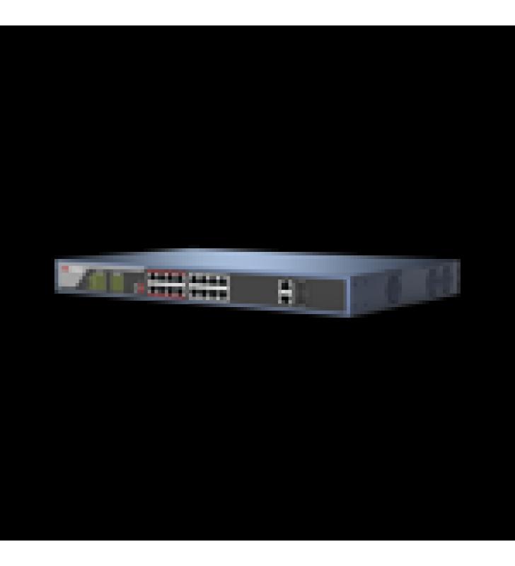 SWITCH POE 250 METROS LARGA DISTANCIA / 16 PUERTOS 802.3AT (30 W) 100 MBPS + 2 PUERTOS GIGABIT + 2 PUERTOS SFP