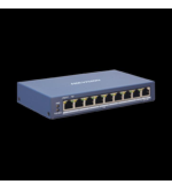 WEB SMART SWITCH POE+ / 8 PUERTOS 10/100 MBPS POE+ (HASTA 300 M) + 1 PUERTOS 10/100/1000 MBPS UPLINK / 110 W