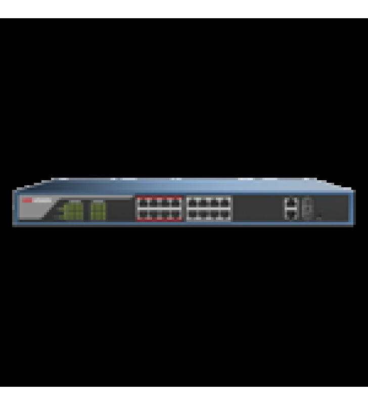 SWITCH POE 250 METROS LARGA DISTANCIA / ADMINISTRABLE / CONFIGURACION WEB / 16 PUERTOS 802.3AT (30 W) 100 MBPS + 2 PUERTOS GIGABIT + 2 PUERTOS SFP