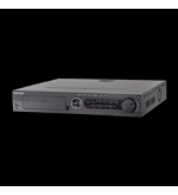 DVR 8 MEGAPIXEL / 32 CANALES TURBOHD + 16 CANALES IP / 4 BAHIAS DE DISCO DURO / 4 CANALES DE AUDIO / VIDEOANALISIS / 16 ENTRADAS DE ALARMA / ARREGLO RAID