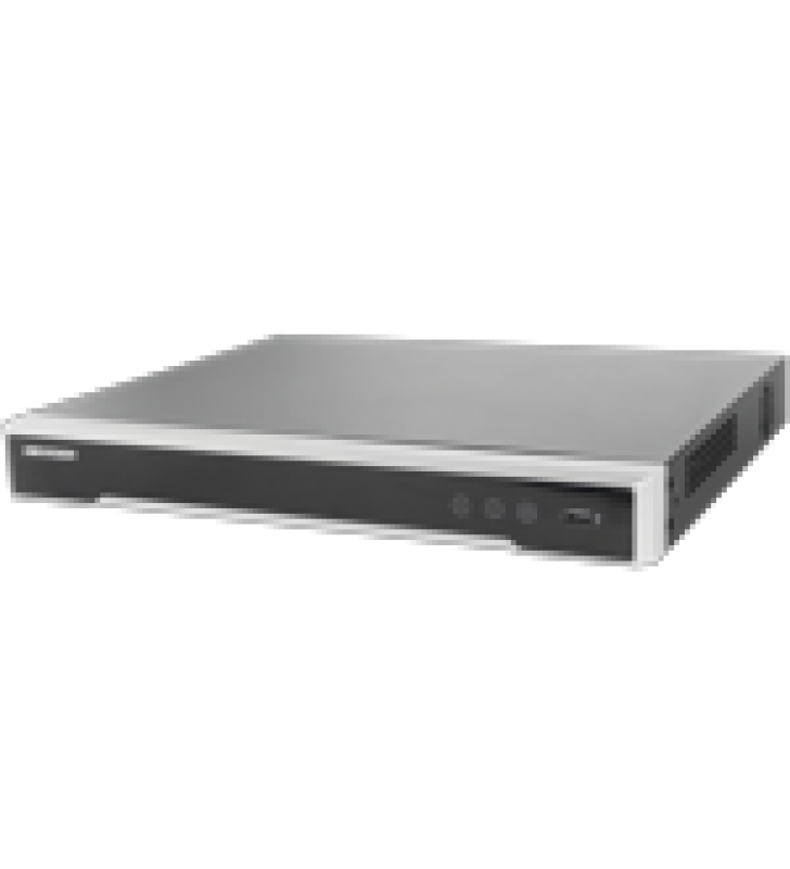 NVR 12 MEGAPIXEL (4K) / 32 CANALES / 16 PUERTOS POE+ / HIK-CONNECT / 2 BAHIAS DE DISCO DURO / SWITCH POE 300 MTS / HDMI EN 4K / SOPORTA POS