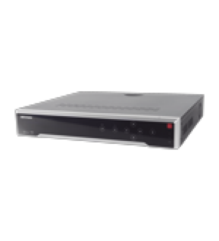 NVR 8 MEGAPIXEL (4K) / 32 CANALES IP / 8 BAHIAS DE DISCO DURO / 2 TARJETAS DE RED / HDMI EN 4K