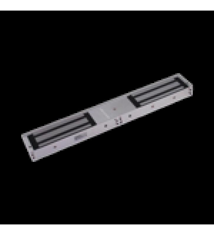 CHAPA MAGNETICA PARA DOBLE PUERTA DE MADERA, METAL Y VIDRIO / PUERTA ANTIFUEGO / SOPORTA 1200 LBS (500 KG) / INDICADOR LED